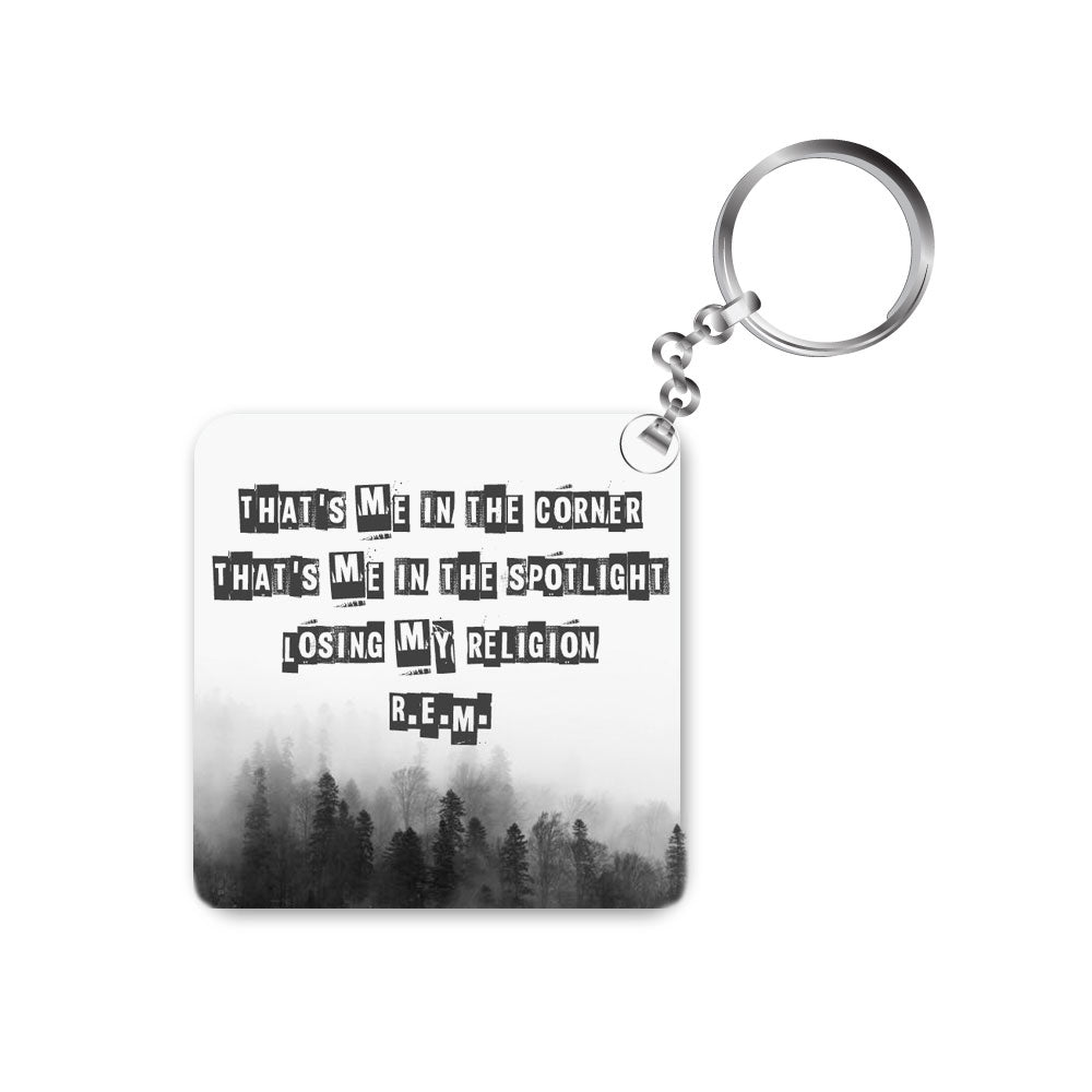 rem keychain keyring music band rock rapid eye movement losing my religion