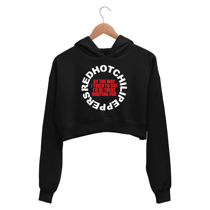 Red Hot Chili Peppers Crop Hoodie - By The Way Crop Hooded Sweatshirt for Women The Banyan Tee TBT