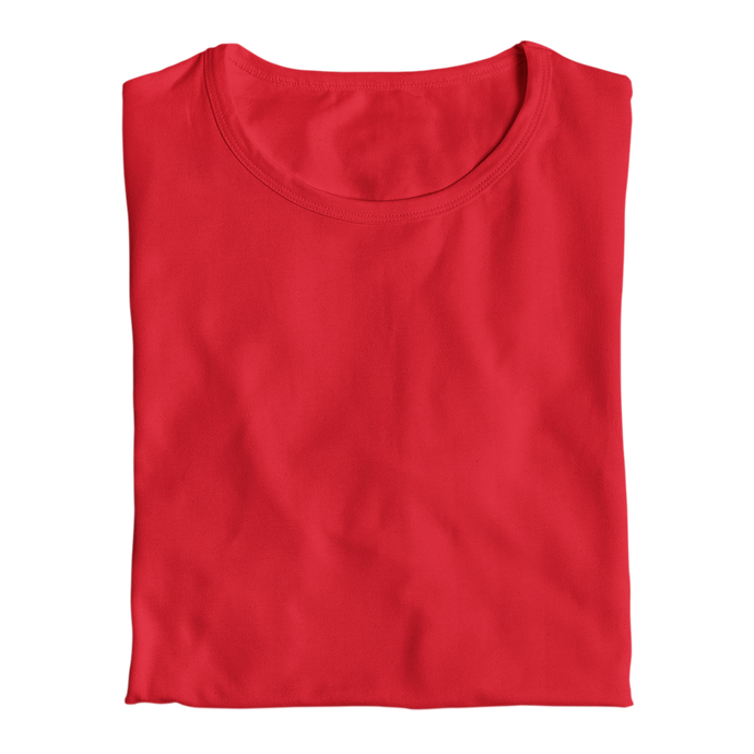 red plain tops by the banyan tee cotton red tops india