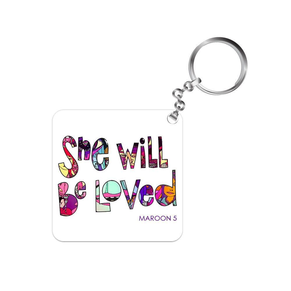 maroon 5 keychain keyring band music pop she will be loved