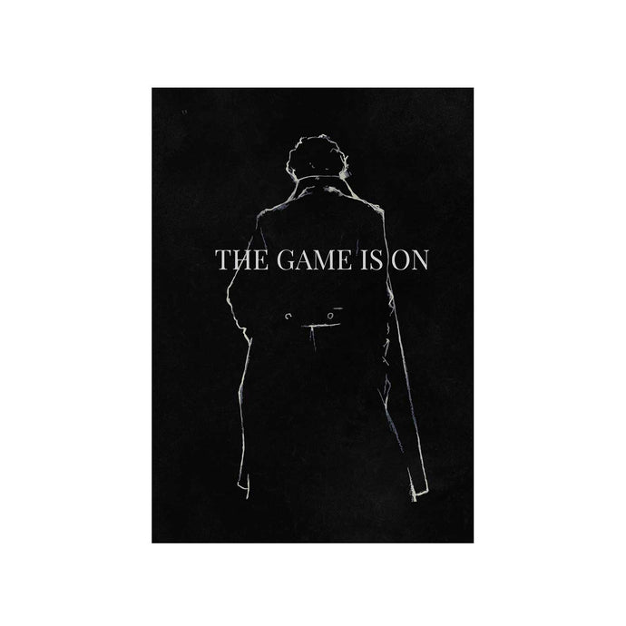 Sherlock Poster - The Game Is On The Banyan Tee TBT