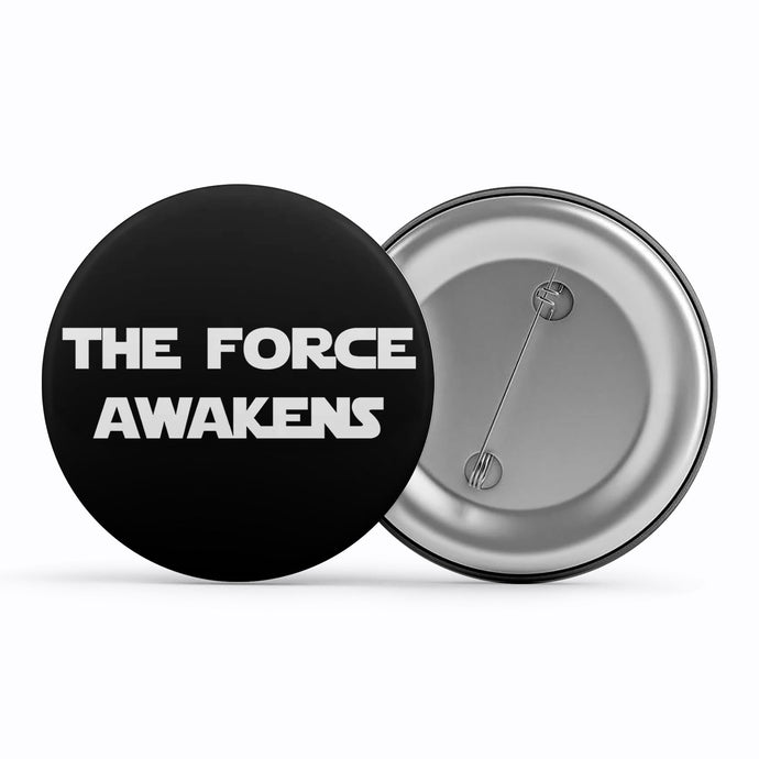 Star Wars Badge - The Force Awakens Metal Pin Button The Banyan Tee TBT