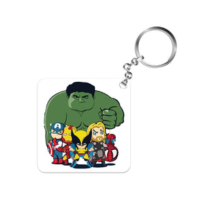 Superheroes Keychain The Banyan Tee TBT