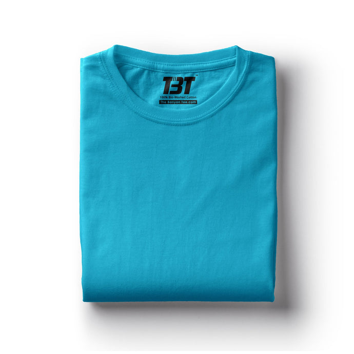 plain t-shirts plain t-shirt india sky blue t-shirts turquoise blue tshirts light blue the banyan tee tbt basics buy plain tshirts india
