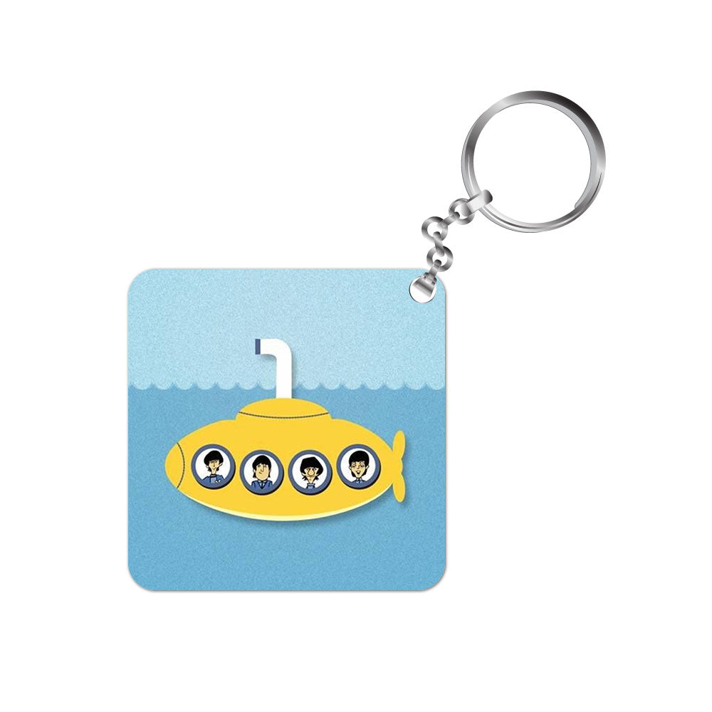 the beatles keychain keyring music band rock n roll pop yellow submarine