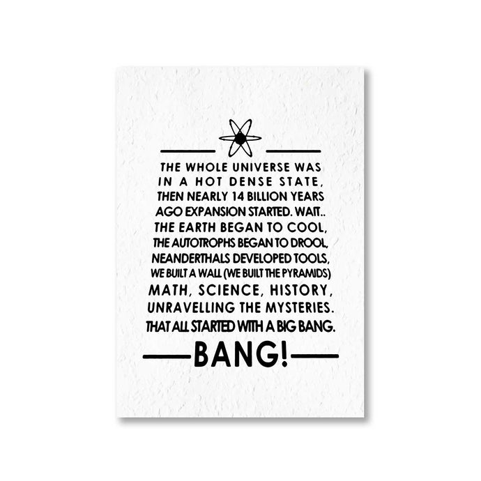 The Big Bang Theory Poster - Title Song The Banyan Tee TBT