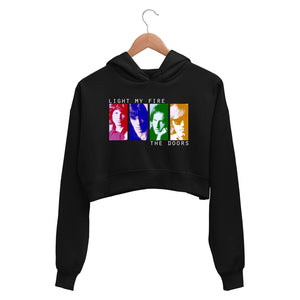 The Doors Crop Hoodie - Light My Fire Crop Hooded Sweatshirt for Women The Banyan Tee TBT
