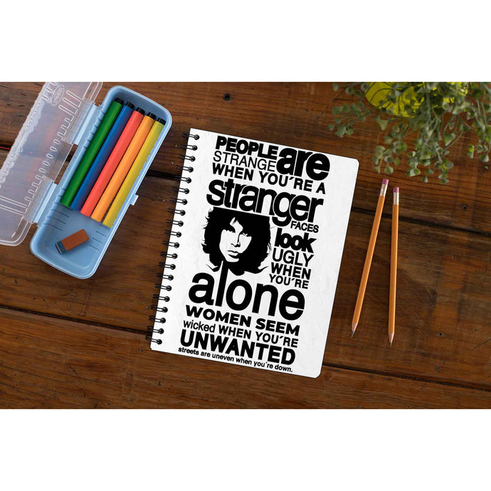 The Doors Notebook - People Are Strange Notebook The Banyan Tee TBT