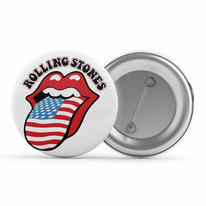 The Rolling Stones Badge Metal Pin Button The Banyan Tee TBT