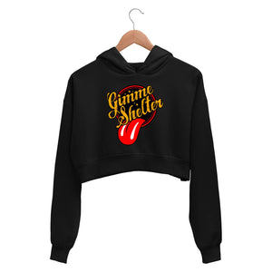 The Rolling Stones Crop Hoodie - Stones Gimme Shelter Crop Hooded Sweatshirt for Women The Banyan Tee TBT