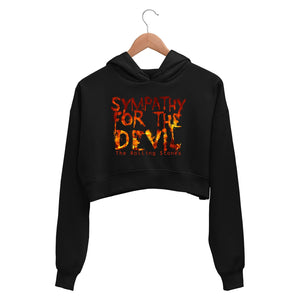 The Rolling Stones Crop Hoodie - Sympathy For The Devil Crop Hooded Sweatshirt for Women The Banyan Tee TBT