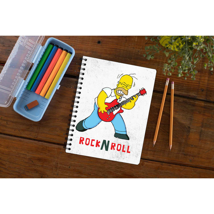 The Simpsons Notebook - Rock N Roll The Banyan Tee TBT