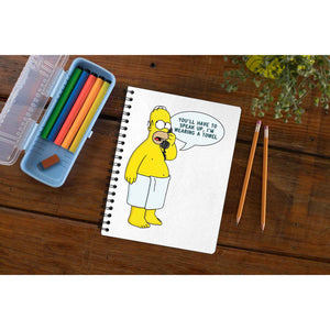 The Simpsons Notebook - Speak Up The Banyan Tee TBT