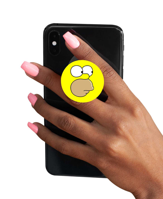 The Simpsons Pop Socket - Homer Simpson Pop Socket Pop Holder The Banyan Tee TBT