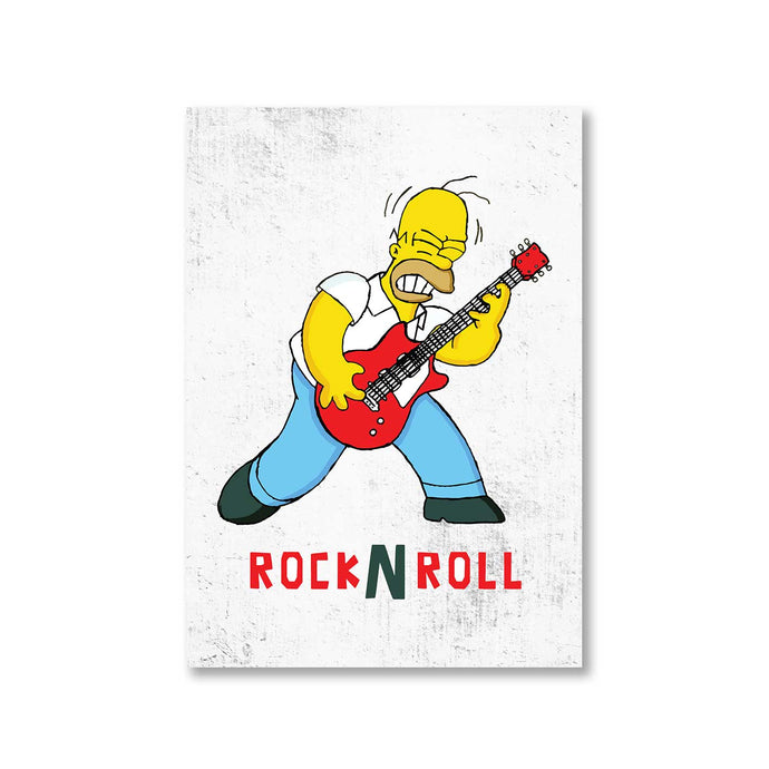 The Simpsons Poster - Rock N' Roll The Banyan Tee TBT