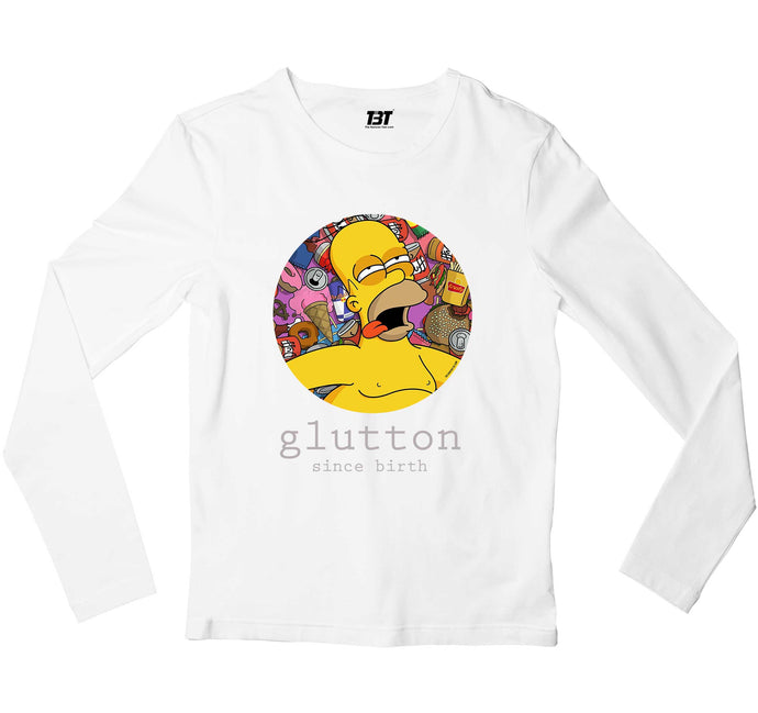 The Simpsons Full Sleeves T-shirt - Glutton Full Sleeves T-shirt The Banyan Tee TBT
