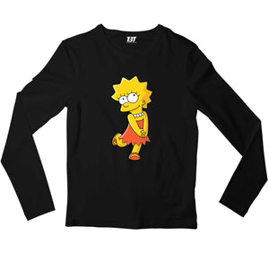 The Simpsons Full Sleeves T-shirt - Lisa Simpson Full Sleeves T-shirt The Banyan Tee TBT