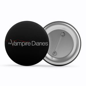 The Vampire Diaries Badge Metal Pin Button The Banyan Tee TBT