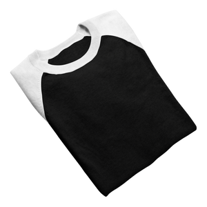 white and black raglan for women 3/4 th sleeve india the banyan tee white raglans