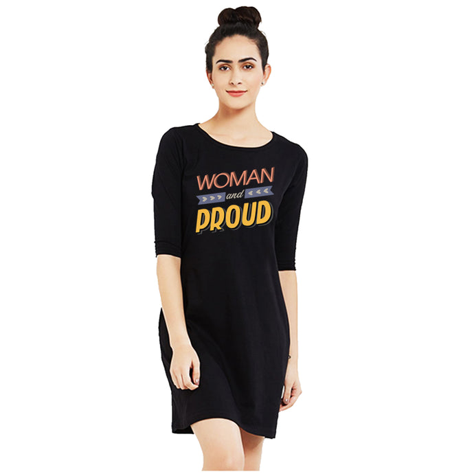 T-shirt Dress - Woman And Proud