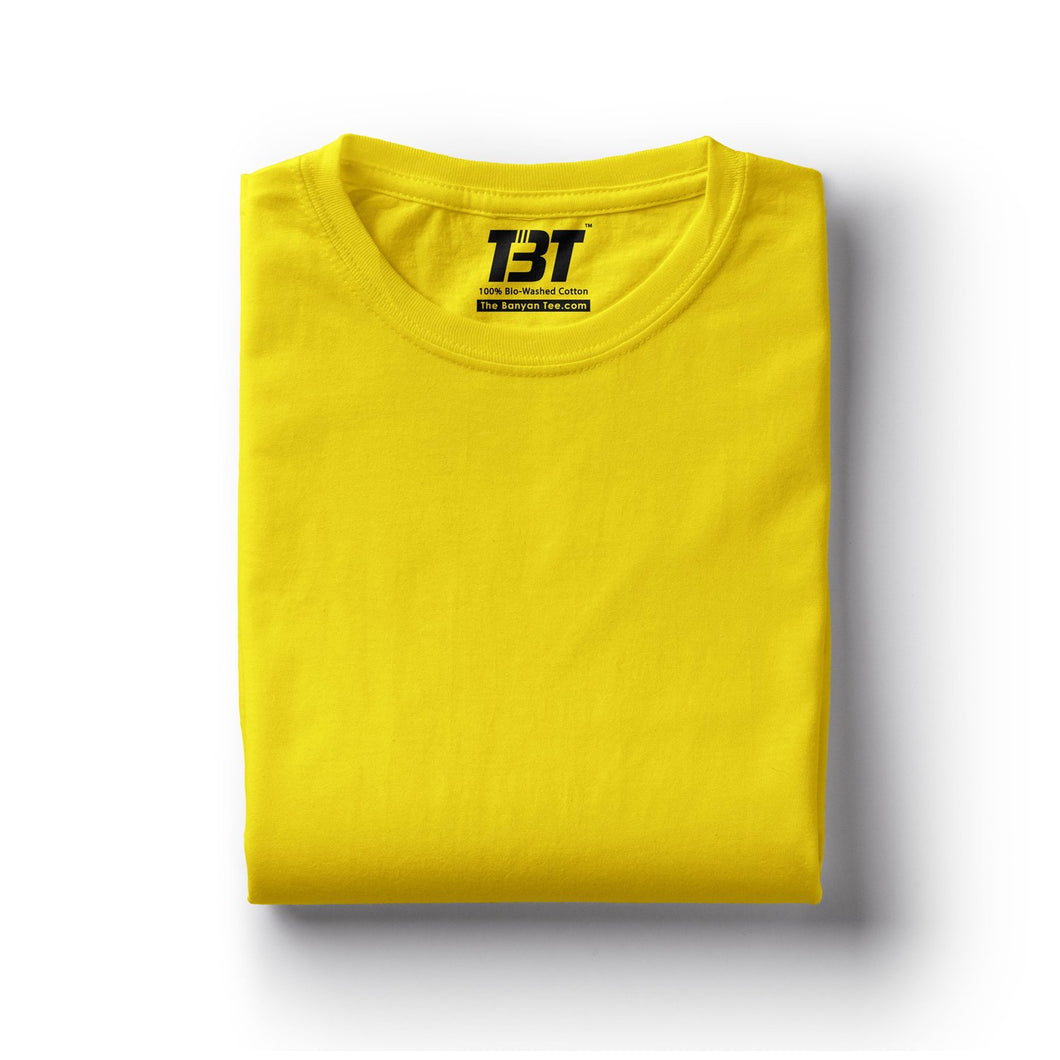 plain t-shirt india yellow t-shirt mustard tshirts chrome yellow tshirt the banyan tee tbt basics buy plain tshirts india
