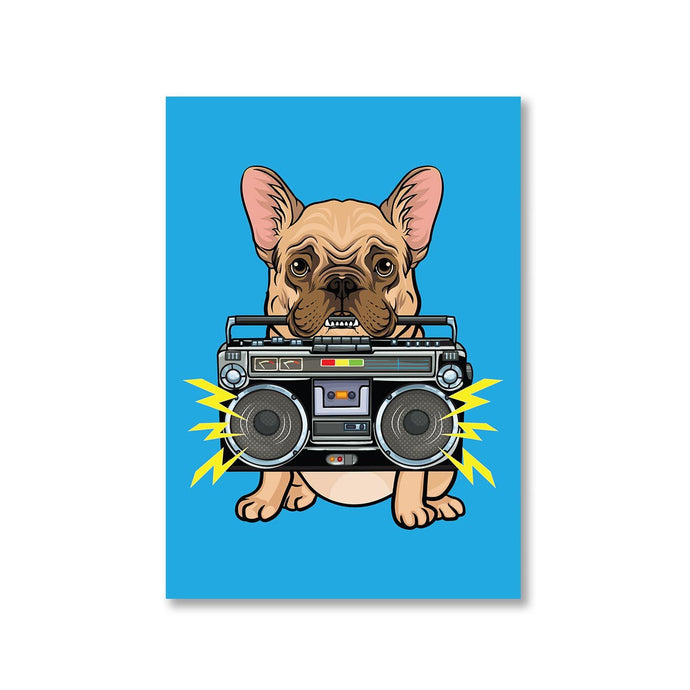 Printed Poster - Dog With Boombox Posters The Banyan Tee TBT