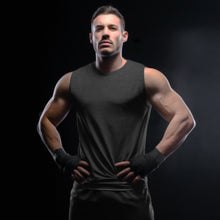 Sleeveless T-shirt - Charcoal Melange