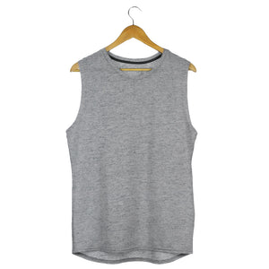 grey gym vest grey melange sleeveless tshirts by the banyan tee cheap gym t shirts india