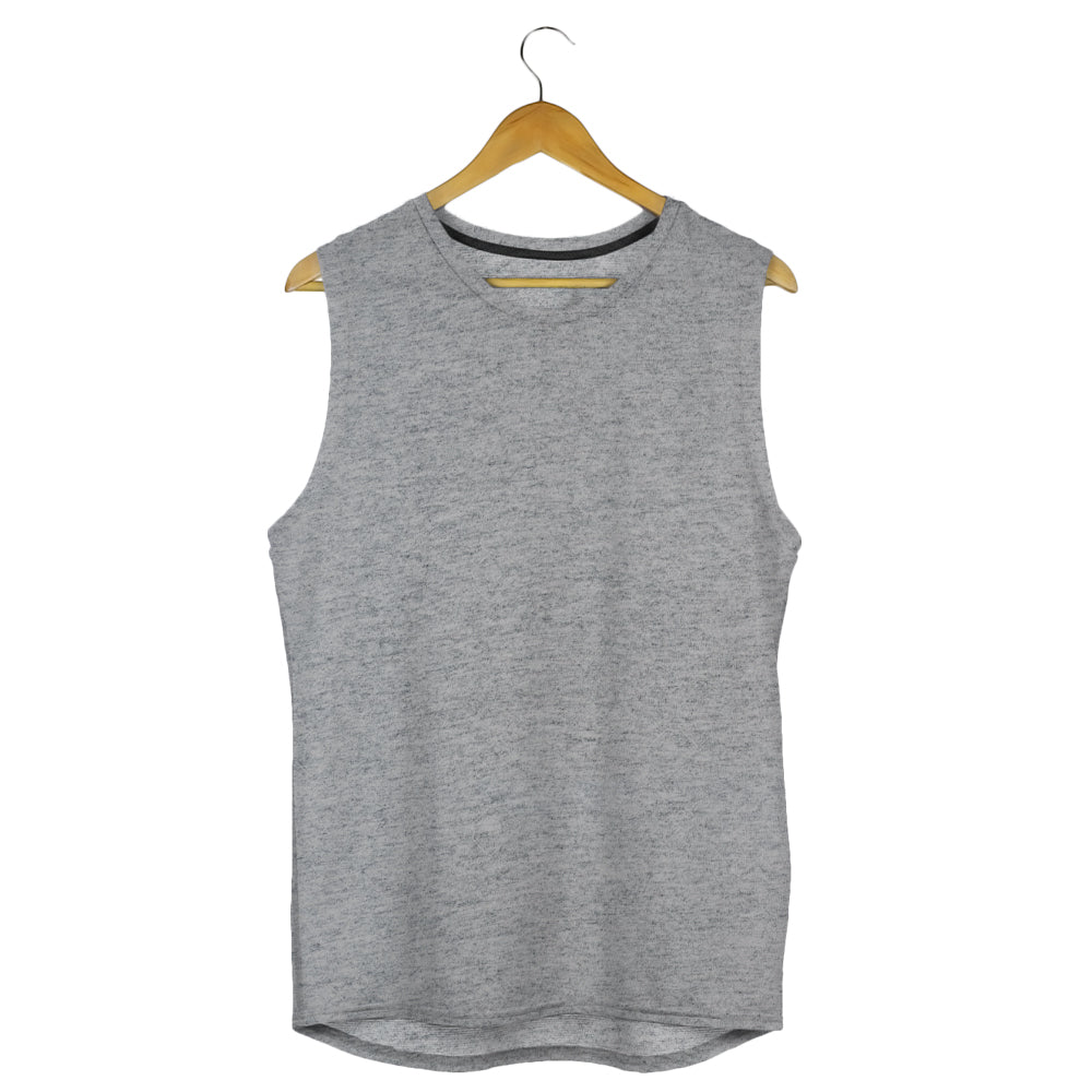 grey gym vest grey melange sleeveless tshirts by the banyan tee cheap gym t shirts india vests for men