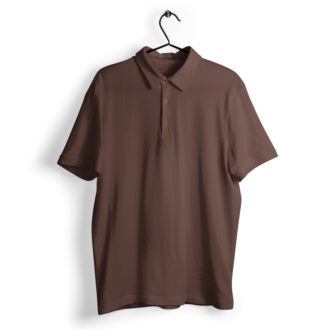 coffee brown polo t-shirt plain coffee brown collar t-shirts the banyan tee 100% cotton polo t-shirts
