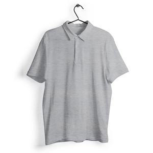 Polo T-shirt - Grey Melange