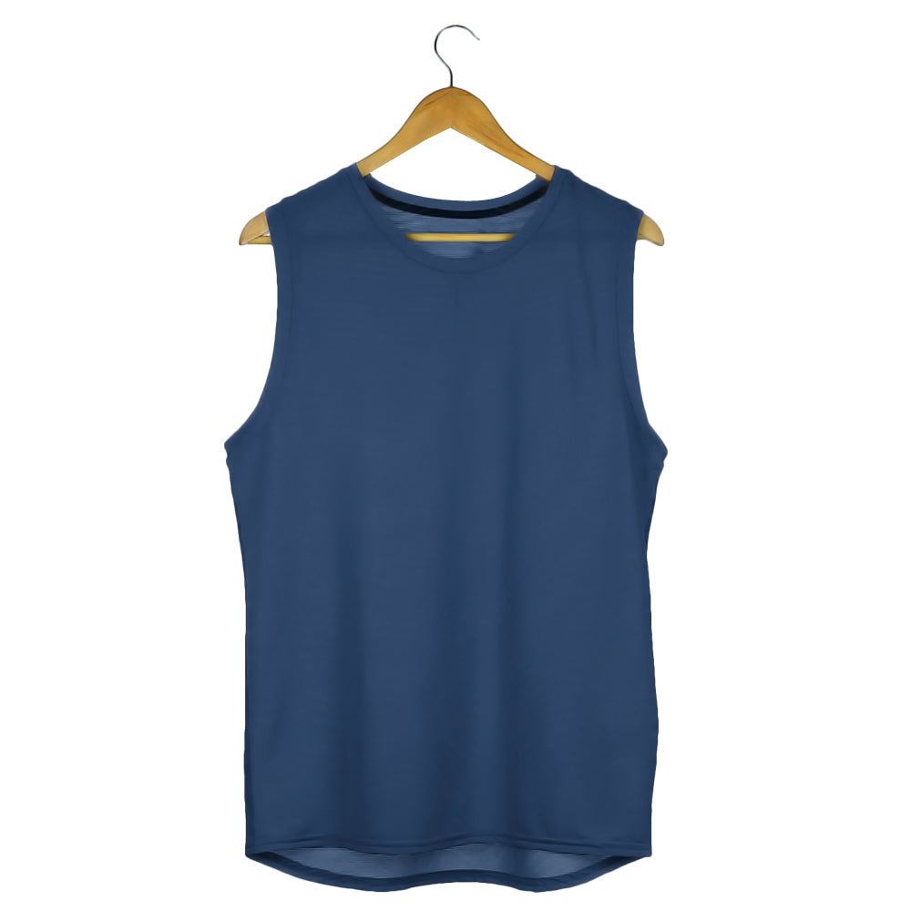 navy blue sleeveless tshirts gym vests by the banyan tee buy cheap gym tshirts in india