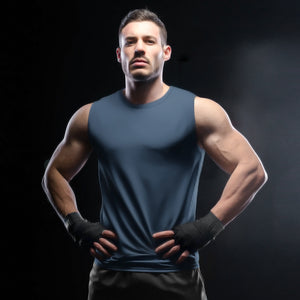 Sleeveless T-shirt - Navy Blue