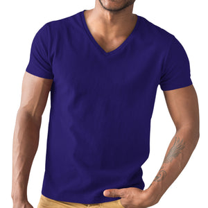 Navy Blue V-neck T-shirt