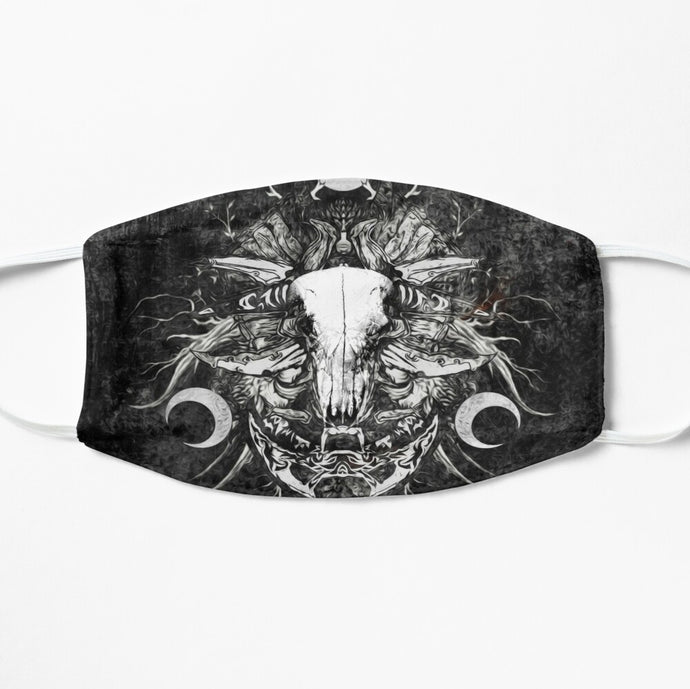 Printed Mask - The Time Of Eclipse by Yuvraj Imaginaria