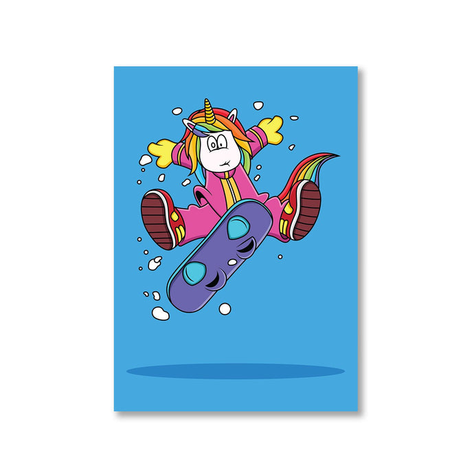 Printed Poster - Unicorn Surfer Posters The Banyan Tee TBT