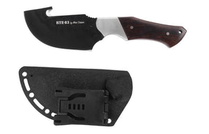Moe Cason Skinner Gut Hook Knife – Ebony Wood Handle