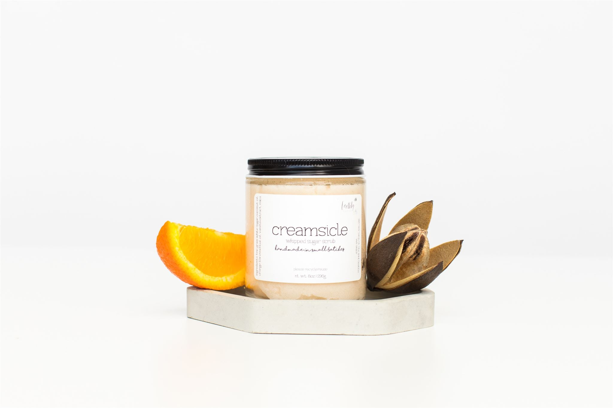 Orange Vanilla Fluffy Whipped Body Scrub