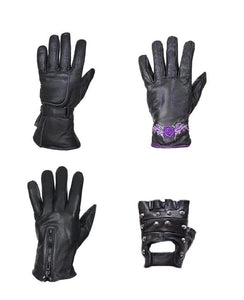 Best Motorcycle Gloves Gauntlet fingerless studs leather riding gloves