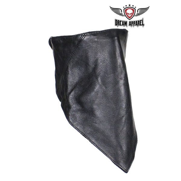 best-motorcyle-vest - Leather Triangle Mask W/ Muffler - Club Vest Biker Motorcycle Apparel & Accessories - misc
