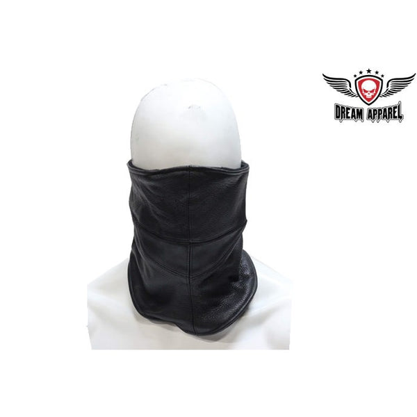 Large Leather Face Mask - Club Vest Biker Motorcycle Apparel & Accessories