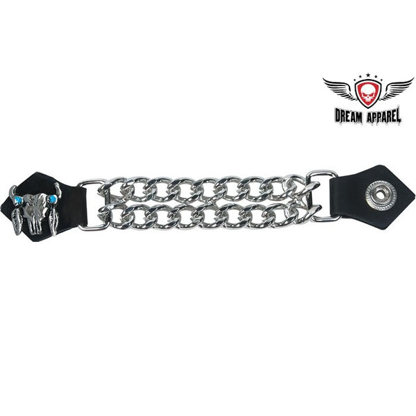 best-motorcyle-vest - Vest Extender W/ Steer Skull Graphic - Dream Apparel® - vest extenders