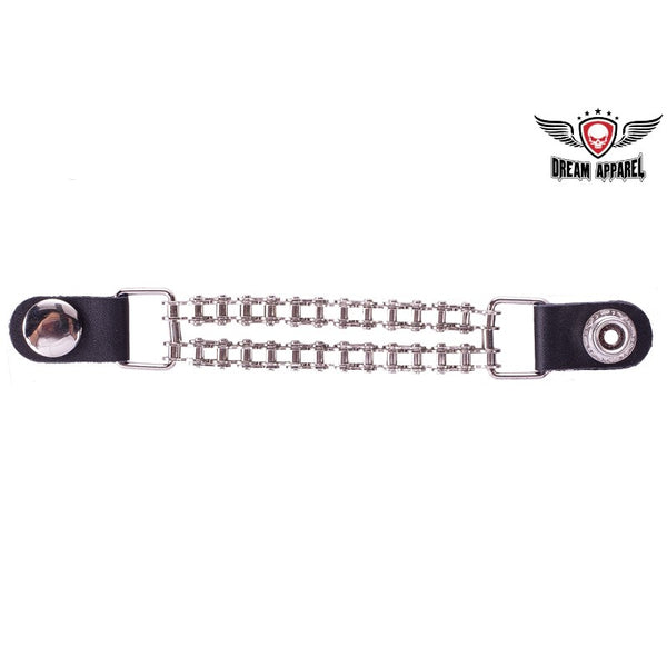 best-motorcyle-vest - Double Chain Plain Motorcycle Vest Extender - Dream Apparel® - vest extenders