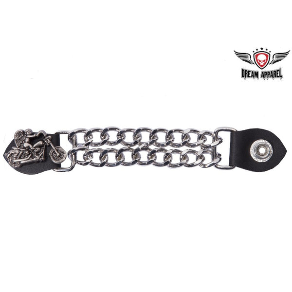 best-motorcyle-vest - Double Chain Biker Angel Motorcycle Vest Extender - Dream Apparel® - vest extenders