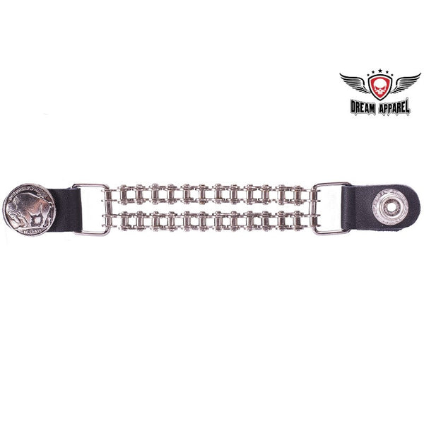 best-motorcyle-vest - Double Chain Buffalo Nickel Motorcycle Vest Extender - Dream Apparel® - vest extenders
