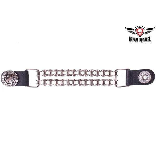 Double Chain Texas Star Motorcycle Vest Extender - Club Vest Biker Motorcycle Apparel & Accessories