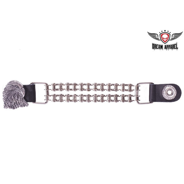 best-motorcyle-vest - Double Chain Eagle Motorcycle Vest Extender - Dream Apparel® - vest extenders