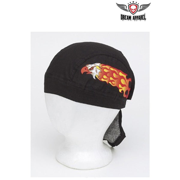One Dozen Cotton Skull Cap w/ Eagle in Flames Design