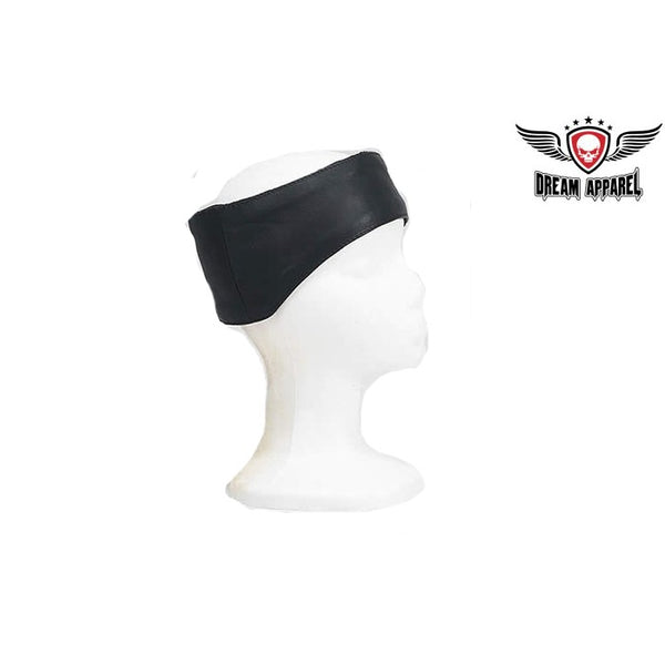 best-motorcyle-vest - Leather Band With Velcro Strap That Covers Forehead & Ears - Club Vest Biker Motorcycle Apparel & Accessories - misc
