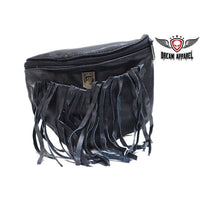 Women's POW Memorial PVC Belt Bag with Fringes belt loop